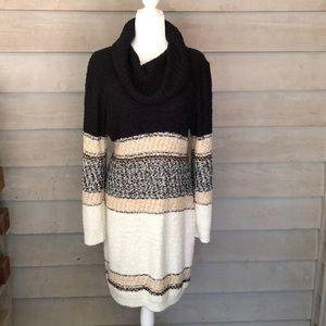 Cato - Cowl Neck Long Sleeve Winter Sweater dress
